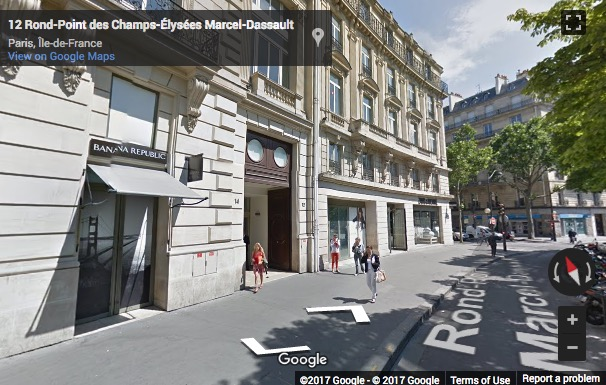 Street View image of 12/14 Rond Point des Champs-Elysees, Paris, Paris Ile de France, France