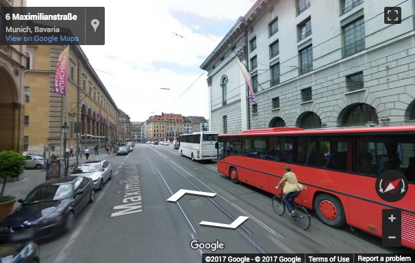 Street View image of Maximilianstraße 2, Munich, Bayern, Germany